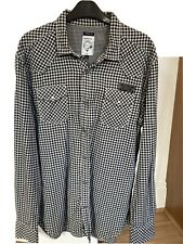 Diesel Checked Shirt XL Black Off White Worn Once