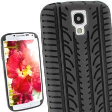 Schwarz Silikon Reifen Skin für Samsung Galaxy S4 IV I9500 Android Etui Hülle Schale