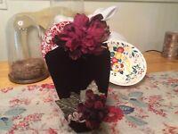 VINTAGE Millinery Flowers...deep Merlot And Plum