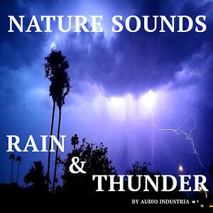 NATURAL SOUNDS CD THUNDER & RAIN FOR RELAXATION, MEDITATION, STRESS SLEEP, SPA
