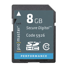 Promaster 8GB SDHC Secure SD Laptop PC Digital Camera Memory Card 5926 Class 10