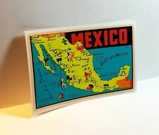 Map of Mexico Vintage Style Travel Decal / Vinyl Sticker, Luggage Label