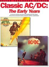 Classic AC DC: The Early Years Sheet Music Book NEW 014006941