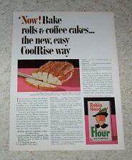 1966 ad page - Robin Hood Flour Honey Pecan Coffee cake recipe -Vintage Print AD