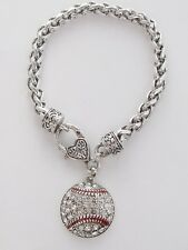 Baseball Crystal Fashion Bracelet Jewelry