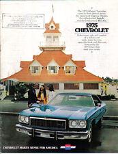 Chevrolet Caprice Classic Impala Bel Air 1975 Original USA Sales Brochure
