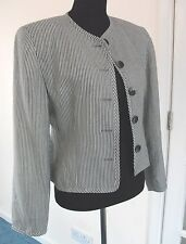 Ladies Blue and White Striped Spring Coat size S UK 8/10