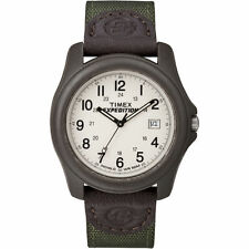 "Timex T49101, Men's ""Expedition Camper"" Green Nylon Watch, Indiglo,Date T491019J"