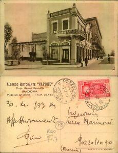 """c.p. ALBERGO RISTORANTE """"VAPORE"""" PIAZZALE STAZIONE, PADOVA (rif.14.306)"""