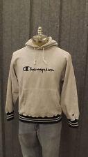 VTG Champion Reverse Weave Sweatshirt, Hoodie Gray/Blue 1990s USA made sz L