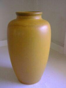 California Faience Pottery Mini Oil Jar Vase Matte Yellow Ochre