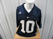 VINTAGE ADIDAS NOTRE DAME FIGHTING IRISH #10 LARGE BLUE FOOTBALL JERSEY PREOWNED