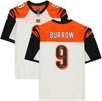 Joe Burrow Cincinnati Bengals Signed White Jersey & Multiple Draft Inscs - LE 9