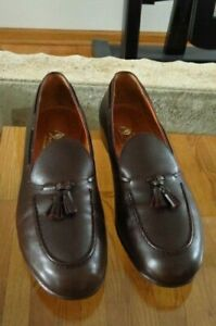 Mens Belgian Shoes All Calf Dark Brown Lui Loafer Dress Shoe 11.5 M