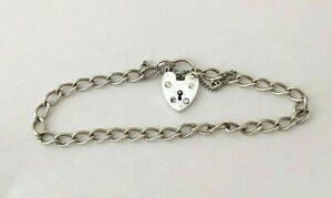 Vintage Sterling Silver Heart Chain Bracelet 1986