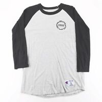 CHAMPION National Honor Society Grey Sports Long Sleeve T-Shirt Mens L