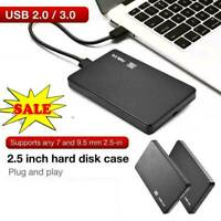 2.5 Inch HDD SSD Case Sata to USB-3.0/2.0 Hard Drive Enclosure 5Gbp Box HOT