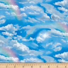 Elizabeth's Studio Landscape Medley Rainbow Cloud 100% cotton Fabric by the yard