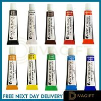 Acrylic Paints Assorted Colours Water Based Paint Set Artist Art Craft School