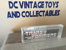 Hasbro 1985 Transformers Original G1 Small Aisle Hanger  Store Display AFA 80+