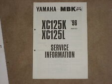 Yamaha XC 125 K, L MAINTENANCE MANUAL SERVICE INFORMATION SERVICE HANDBOOK 96