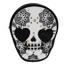 Women Skull Shoulder Bag PU Leather Handbag Tote Purse Messenger Crossbody Bag