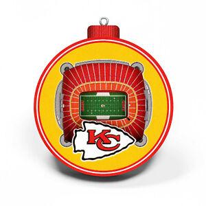 NFL Kansas City Chiefs Tree Decoration 3-D Staduim Pendant Ornament Christmas