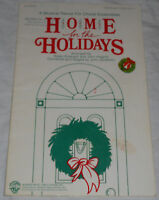 Warner Bros Home for Holidays Christmas Musical Review Choral Ensemble Program