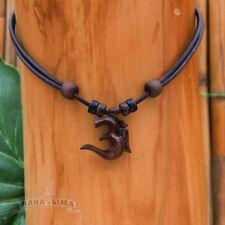 Lederkette Halskette Herren Damen Om Shiva Buddha Indien Omkette Surferkette