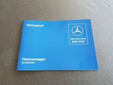 Mercedes W123 Diesel engine service booklet