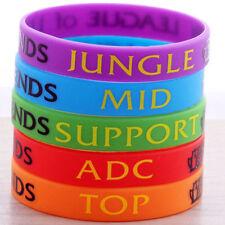 5pcs LOL League of Legends ADC Jungle Support Top Mid Wristband Bracelets
