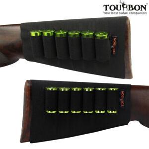 Tourbon Hunting Shotgun Cartridges Holder Ammo Carrier Butt Stock Cover Shooting