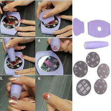 Durable Nail Art Stamp Plate Set DIY Manicure Machine Stencil Tool For Woman New