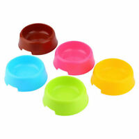 Pet Dog Cat Puppy Candy Color Plastic Food Feeding Animal Water Dish Bowl Feeder