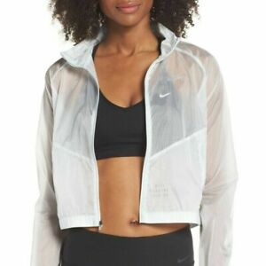 NWT Nike Transparent Run Division Jacket NFS Women White M Running CN5208-100
