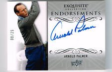 ARNOLD PALMER 2014 UPPER DECK EXQUISITE ENDORSEMENTS AUTOGRAPH # 8/25 HOF 1974