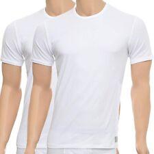 Calvin Klein Mens CK One Short Sleeved Crew Neck T-Shirt 2-Pack, Black or White