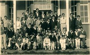 Vintage postcard Douglas Isle of Man 1928 school sports club pupils old photo