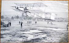 1908 French Aviation Postcard: Henri Farman Airplane/Biplane, Battant le Record