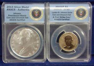 2015 Coin and Chronicles Set - Lyndon B. Johnson ANACS RP69  *DN*