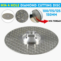 Diamond Cutting Disc 4/4.5/5/6'' Angle Blade Grinder Blade M14 Grinding Concrete