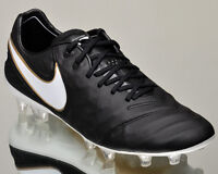 Nike Tiempo Legend VI FG 2 men soccer cleats football NEW black gold 819177-010