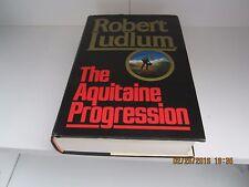 The Aquitaine Progression by Robert Ludlum 1st/1st Flat Signed HC/DJ