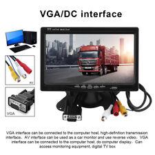 HD 1024x600 7 Inch Ultra Thin TFT-LCD HD Monitor Audio Video AV VGA for Car Home