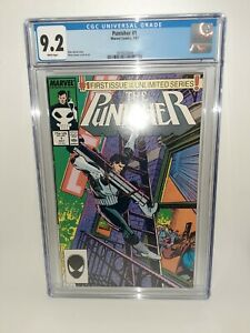 Marvel Punisher #1 CGC 9.2 White Pages 1987 FREE SHIPPING