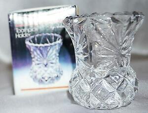 ARTMARK 24% Lead Crystal Toothpick Holder With Box NIB NEW