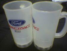 NASCAR (1) One Large Plastic 32 oz Mug Ford Racing Beer Drinking Glass (or soda)