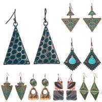 Classic Bohemian Vintage Boho Triangle Earrings Retro Ethnic Totem Drop Jewelry