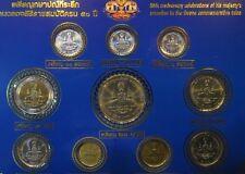 King Bhumibol Adulyadej 50 Year Reign Jubilee 1996 Rama 9 Thailand 10 Coin Set