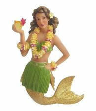 December Diamonds Figure Ornament Aloha Hawaiian Martini Glitter Mermaid Statue